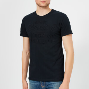 Superdry Men's Premium Goods Embossed T-Shirt - Eclipse Navy