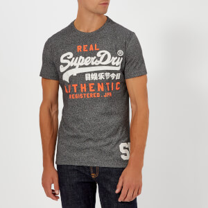 Superdry Men's Vintage Authentic Duo T-Shirt - Black Grit