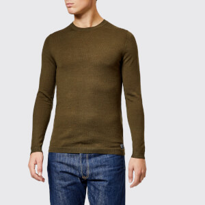 Superdry Men's Merino Crew Neck Jumper - Combat Green