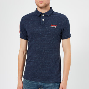 Superdry Men's Classic Pique Short Sleeve Polo Shirt - Montana Blue Grit