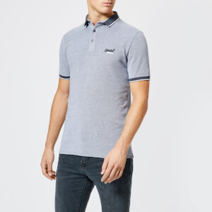 Superdry Men's City Oxford Short Sleeve Pique Polo Shirt - Grey
