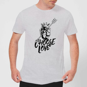 Native Shore Choose Love Men's T-Shirt - Grey