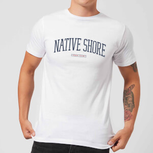 Native Shore Varsity Curved Men's T-Shirt - White