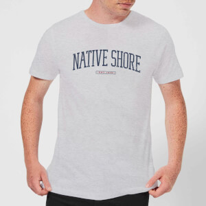 Native Shore Varsity Curved Men's T-Shirt - Grey