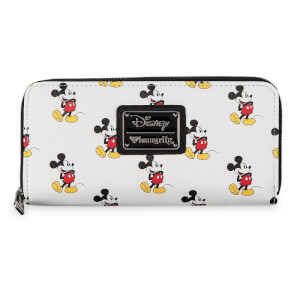 Loungefly Disney Classic Mickey Mouse AOP Zip Around Wallet