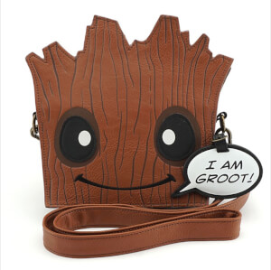 Loungefly Marvel Guardians of the Galaxy Groot Die Cut Cross Body Bag
