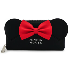Disney Loungefly Cartera Minnie Mouse con Orejas y Lazo Rojo