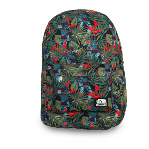 Loungefly Star Wars Boba Fett Bright Leaves AOP Print Backpack