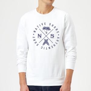 Native Shore Authentic Surf Circle Sweatshirt - White