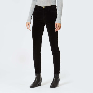 Frame Women's Le High Velveteen Skinny Jeans - Noir