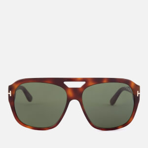 Tom Ford Men's Bachardy Sunglasses - Dark Havana/Green