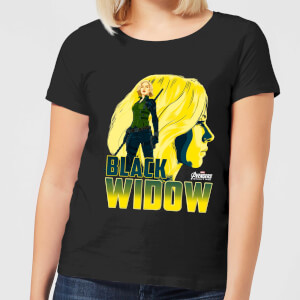 Avengers Black Widow Dames T-shirt - Zwart