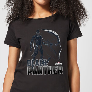 Avengers Black Panther Dames T-shirt - Zwart