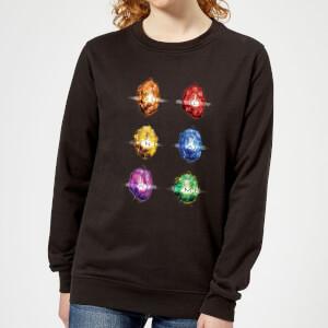 Avengers Infinity Stones Women's Sweatshirt - Black