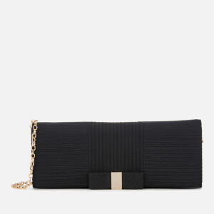 Ted Baker Women's Emilee Flat Bow Evening Bag - Black