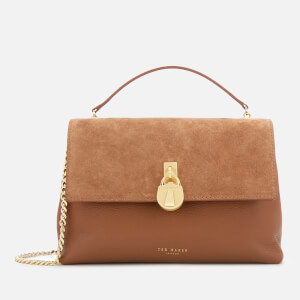 Ted Baker Women's Helena Suede Padlock Cross Body Bag - Tan