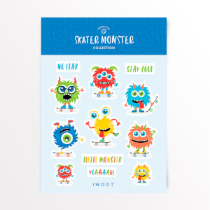 Skater Monster Sticker Pack