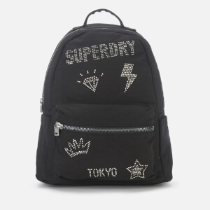Superdry Women's Midi Backpack - Rhinestone Black