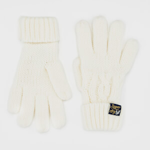 Superdry Women's Arizona Cable Gloves - Cream