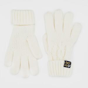 Superdry Women's Arizona Cable Gloves - Cream