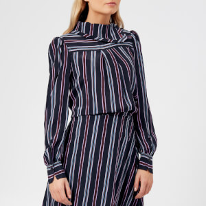 See By Chloé Women's Stripes Blouse - Multicoloured Blue