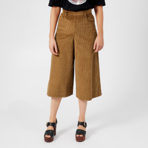 See By Chloé Women's Corduroy Culottes - Mustard Brown