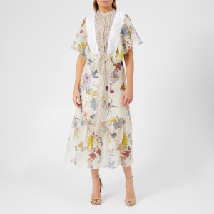 See By Chloé Women's Floral Patchwork Dress - Multicoloured White