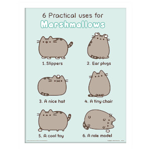Pusheen (Practical Uses for Marshmallows) Framed 30 x 40cm Print
