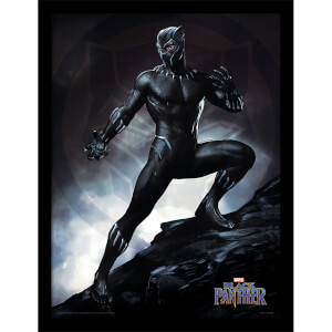 Black Panther (Stance) Framed 30 x 40cm Print