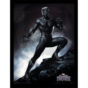 Black Panther (Stance) Framed 30 x 40cm Print