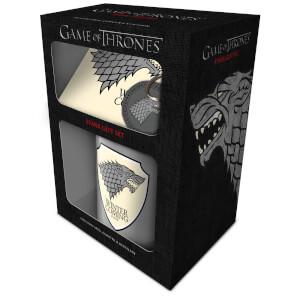 Game Of Thrones (Stark) Mug, Coaster and Keychain Set