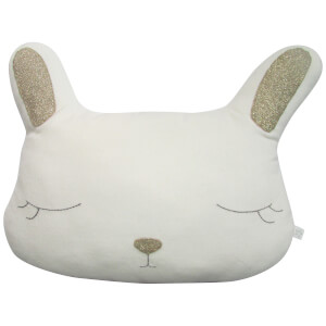 Albetta Decorative Bunny Cotton Velvet Cushion - Off White