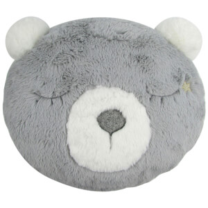 Albetta Decorative Bear Cushion - Grey