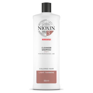 NIOXIN 3-part System 3 Cleanser Shampoo for Coloured Hair with Light Thinning 1000ml