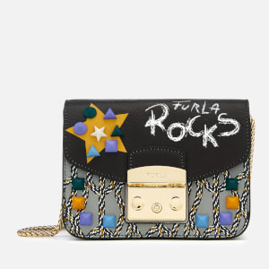 Furla Women's Metropolis Message Mini Cross Body Bag - Black