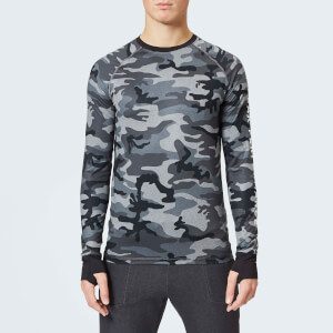 Peak Performance Men's Spirit Print Long Sleeve Top - Grey Mel Camo
