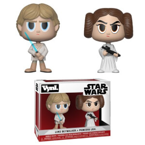 Figurines Vynl. Princesse Leia et Luke Skywalker Star Wars