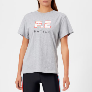 P.E Nation Women's The Double Track T-Shirt - Grey Marl