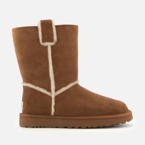 UGG Women's Classic Short Spill Seam Sheepskin Boots - Chestnut