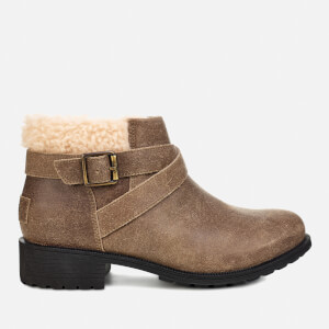 UGG Women's Benson Waterproof Leather Ankle Boots - Dove