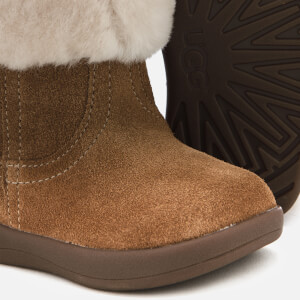 UGG Babie's Jorie II Suede Sheepskin Collar Boots - Chestnut: Image 4