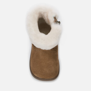 UGG Babie's Jorie II Suede Sheepskin Collar Boots - Chestnut: Image 3