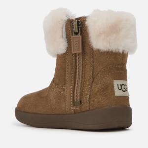 UGG Babie's Jorie II Suede Sheepskin Collar Boots - Chestnut: Image 2