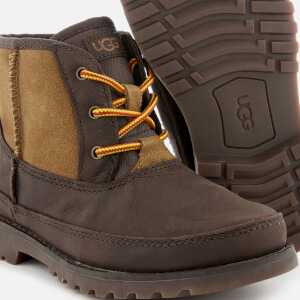 UGG Kid's Bradley Water Resistant Lace-Up Boots - Stout: Image 4