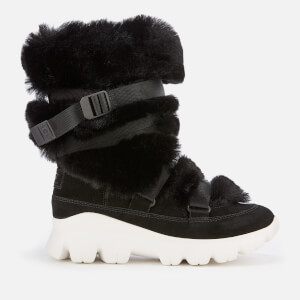 UGG Women's Misty Faux Fur/Waterproof Boots - Black