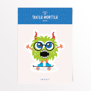 Skater Monster Glasses Vinyl Decal
