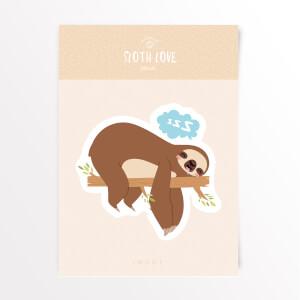 Sloth Love Snooze Vinyl Decal