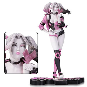 DC Collectibles Harley Quinn Pink, White and Black Valentine's Variant by Stanley Artgerm Lau Statue - 19 cm