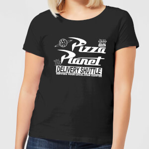 Toy Story Pizza Planet Logo Women's T-Shirt - Black