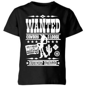 Toy Story Wanted Poster Kids' T-Shirt - Black